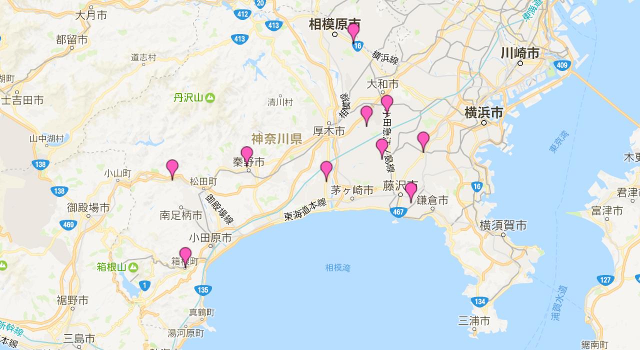 神奈川県下に10つの医院