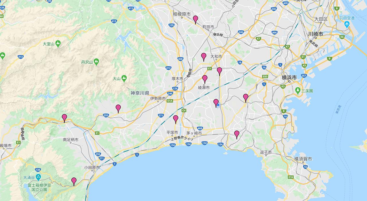 神奈川県下に11医院